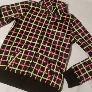 Aperture Pink, Green and Black Snow Fleece - S